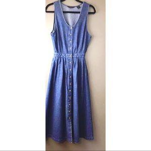 Vintage Eddie Bauer Button Denim Dress